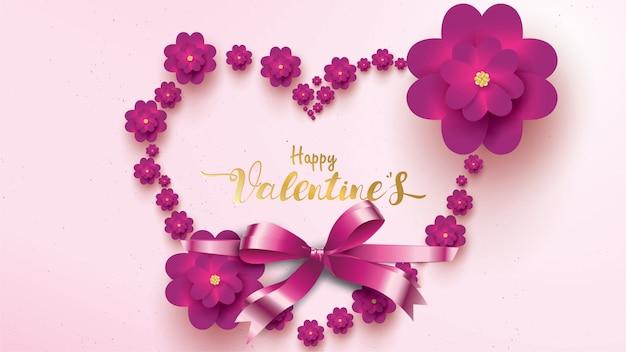 Happy valentines day greeting card Premium Vector