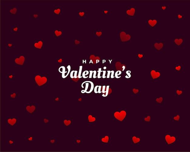 Scheda felice del modello dei cuori di san valentino Vettore gratuito