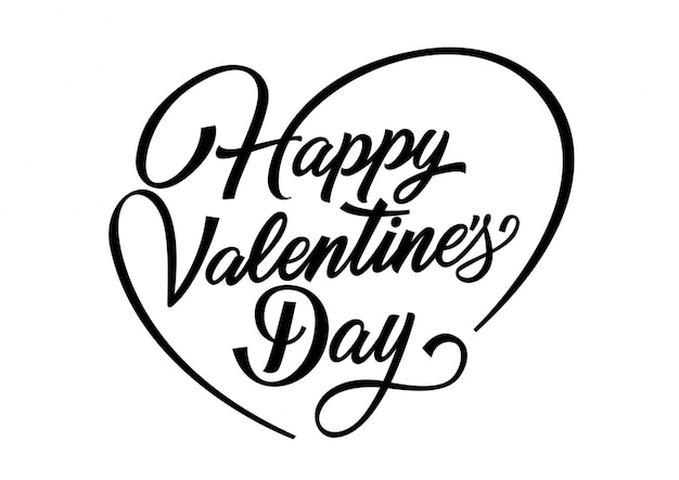 Happy Valentines Day Lettering Vector Free Download