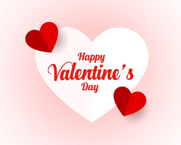 Happy valentines day in paper style Free Vector