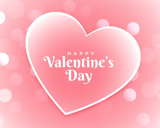 Happy valentines day pink card design Free Vector