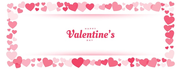 С днем святого валентина красное сердце рамка баннер Бесплатные векторы