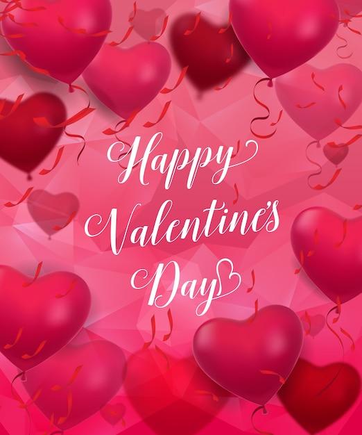 Happy Valentines Day Romantic Lettering Vector | Premium Download