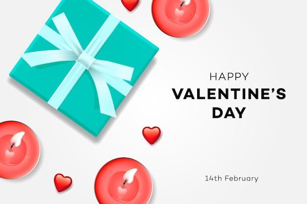 Happy valentines day sale gift box Premium Vector