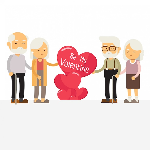 Happy valentines day template banner Premium Vector
