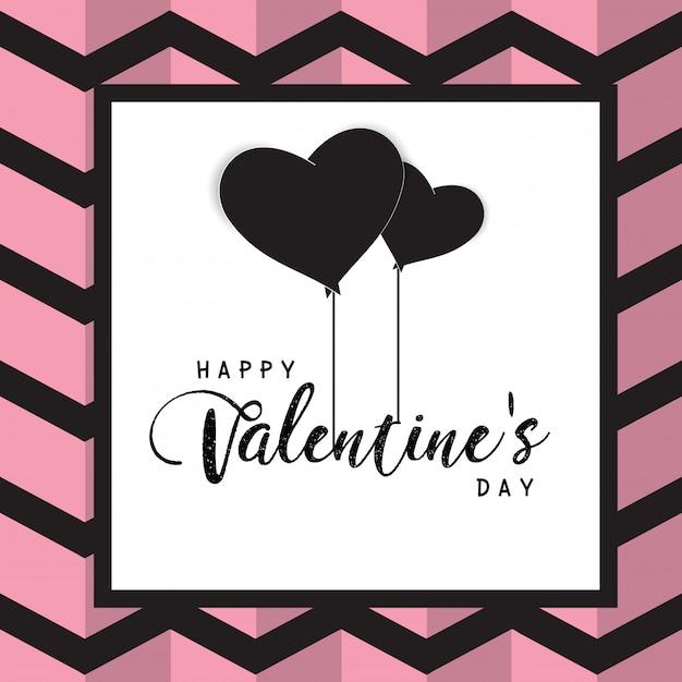Happy valentines day text box and weeding design elements Premium Vector