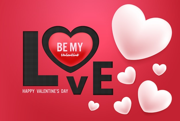Happy valentines day vector design Premium Vector
