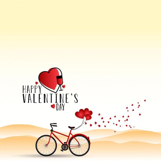 Happy valentines day vector Free Vector