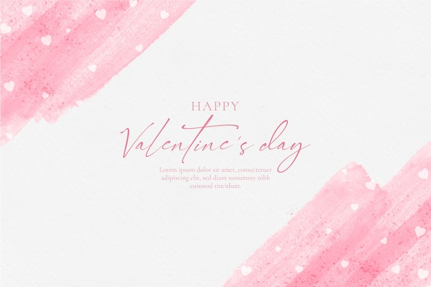 Felice giorno di san valentino sfondo acquerello Vettore gratuito