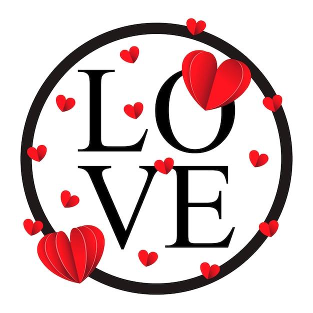 Happy valentines day and weeding design elements Premium Vector