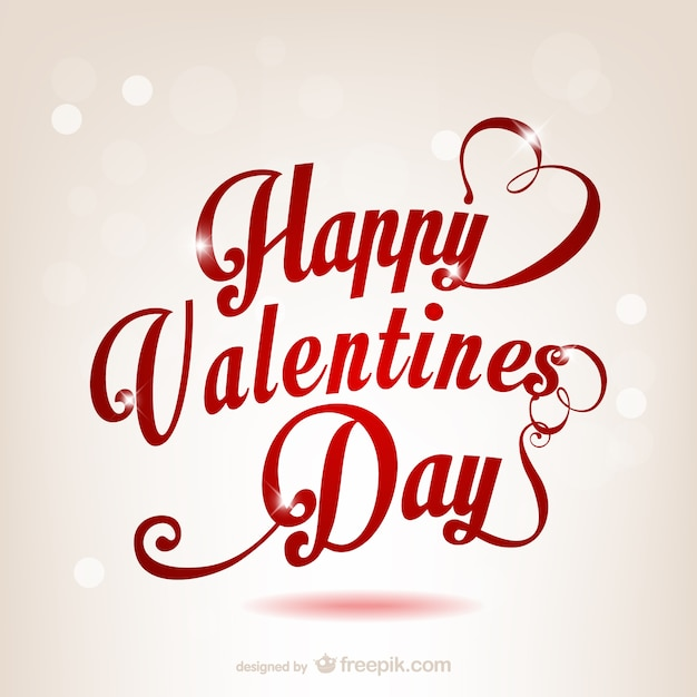 Happy Valentines Day Vector Free Download