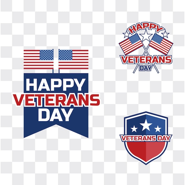 Happy veteran's day for american veteran Premium Vector