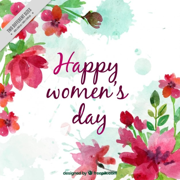 happy women day watercolor background vector free download. Black Bedroom Furniture Sets. Home Design Ideas