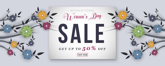 Happy women's day background. Premium Vector
