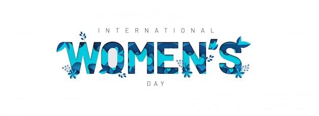 Happy women's day banner. Premium Vector
