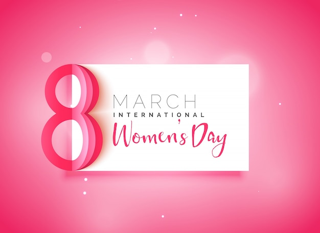happy women's day beautiful pink background Free Vector