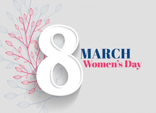 Happy women's day greeting background Free Vector