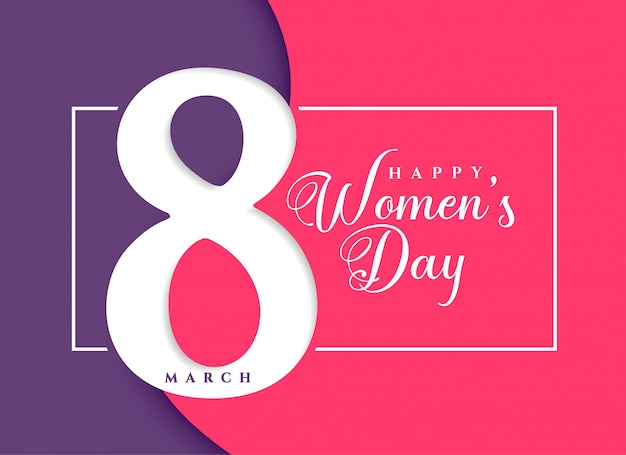 Happy women's day march celebration background Free Vector