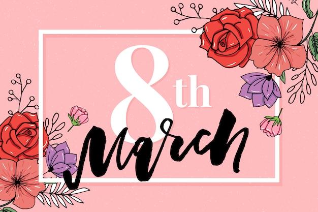 Happy women's day sale banner. Premium Vector