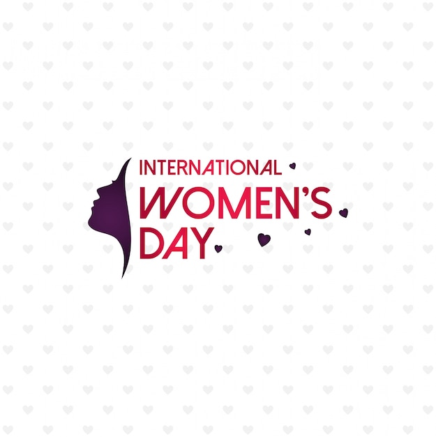 Happy women's day with pattern background and typography Free Vector