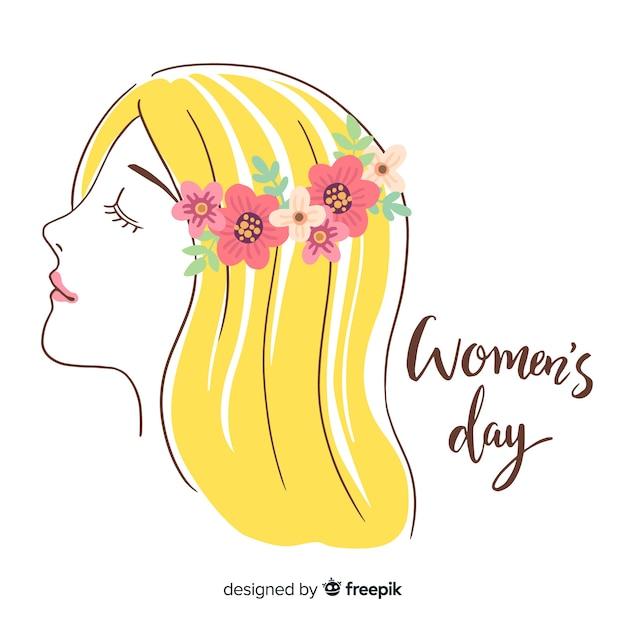 Happy women's day Free Vector