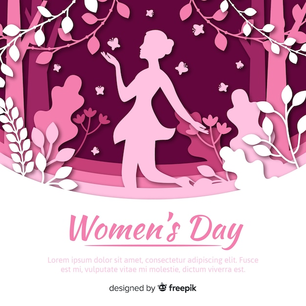 Happy women's day Free Vector