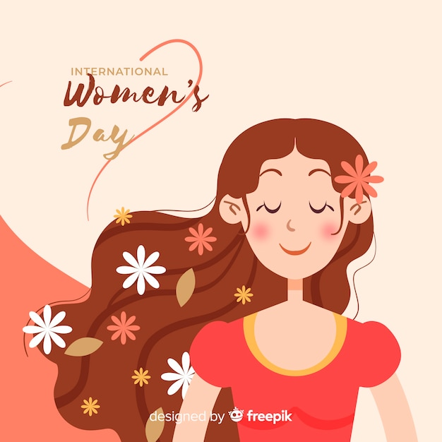 Счастливый женский день Premium векторы