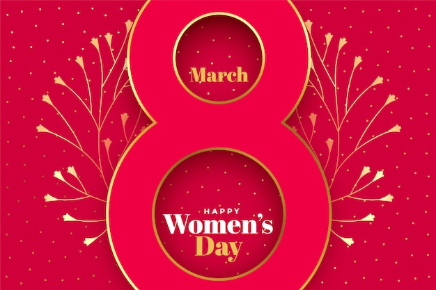 Happy womens day creative concept background Free Vector