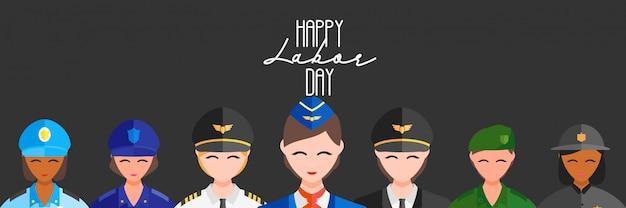 Happy worker's labor day Premium Vector