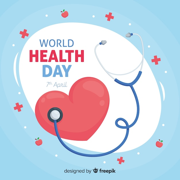 Happy world health day Free Vector