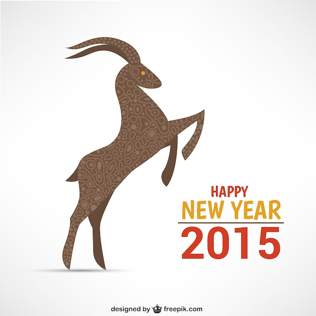 Happy year of the goat Free Vector