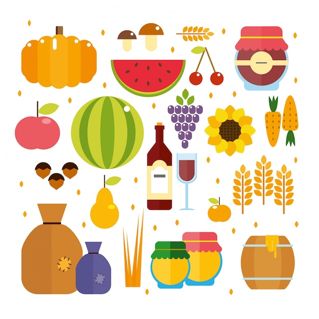 harvest time Free Vector