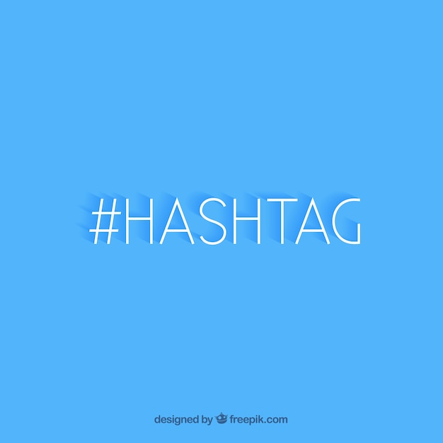 Hashtag background design Free Vector