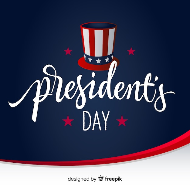 Hat presidents day background Free Vector
