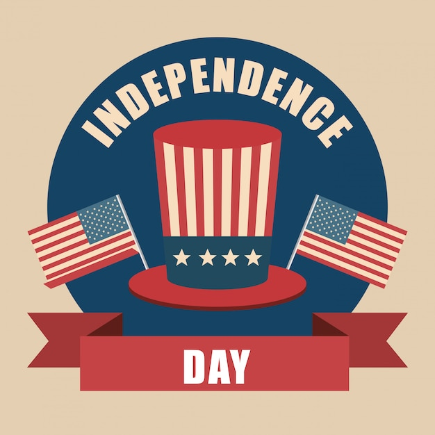 Hat usa independence day celebration Free Vector