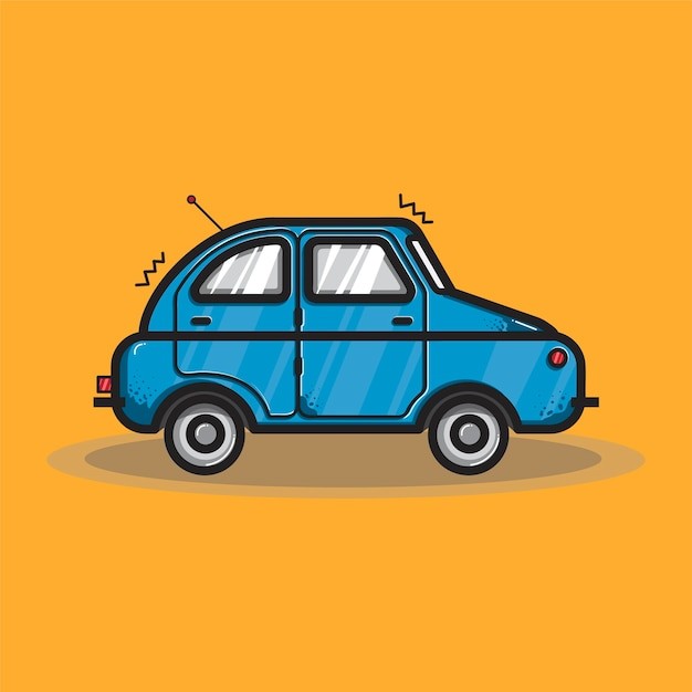Hatchback car transportation graphic illustration Free Vector