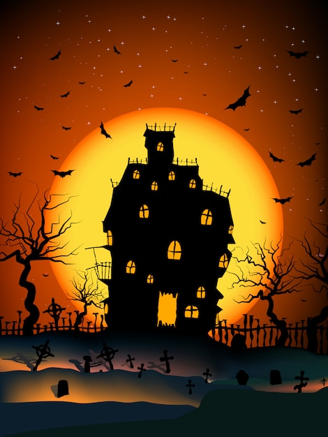 Haunted house Premium Vector