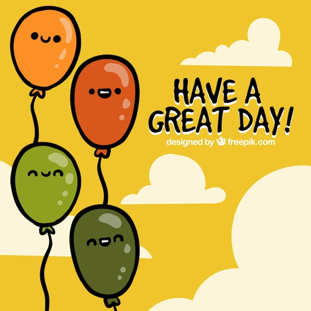 Have A Great Day Greeting Card Vector Free Download