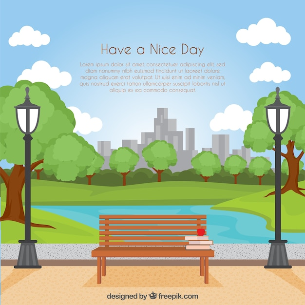 Have a nice day background Free Vector