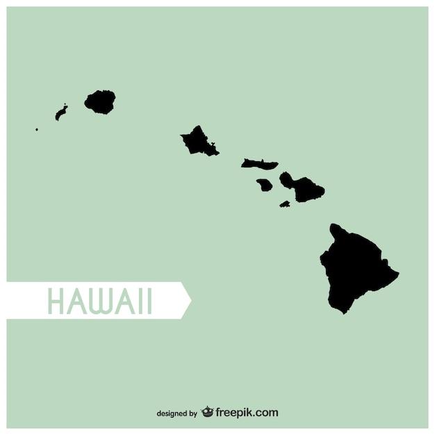 Hawaii Map Vector Vector Free Download