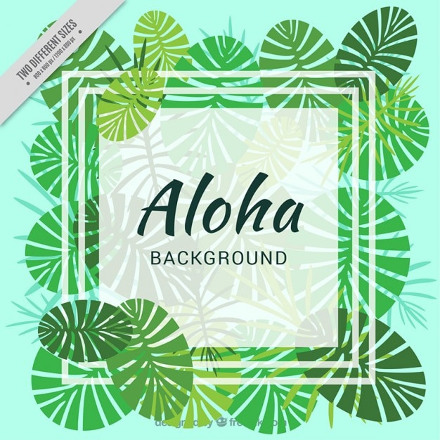 hawaiian background with palm leaves vector free download