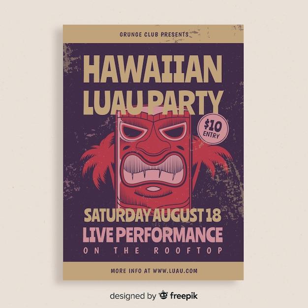 Banner di partito luau hawaiano Vettore gratuito