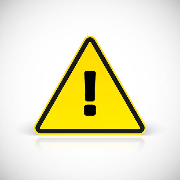 Premium Vector   Hazard warning attention sign with ...