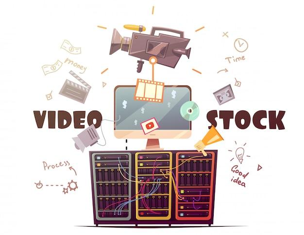 すべてのタイプのhdビデオクリップのビデオストック 無料ベクター