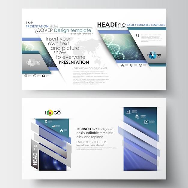 プレゼンテーションスライド用のhdサイズのビジネステンプレート Premiumベクター