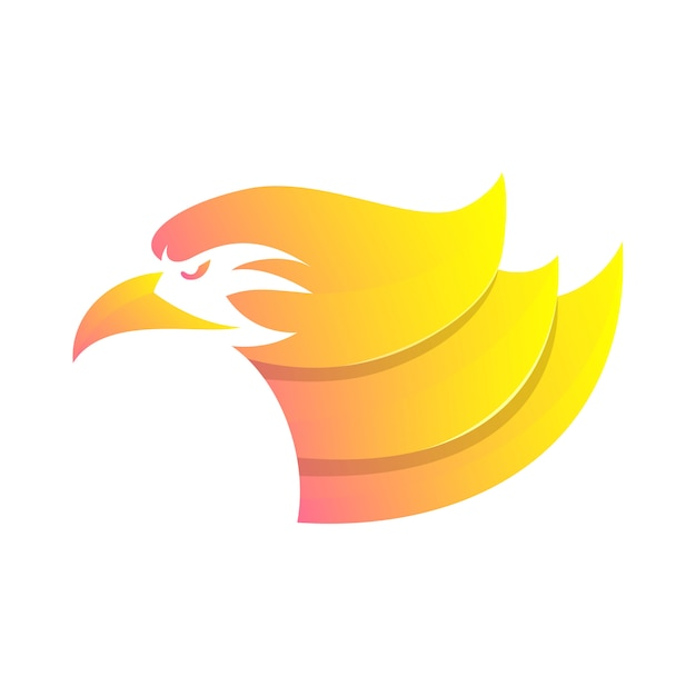 Head eagle abstract head Premium Vector