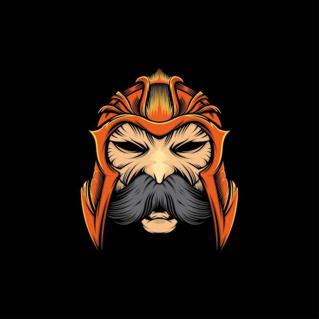 頭の質素なマスコットイラスト Premiumベクター