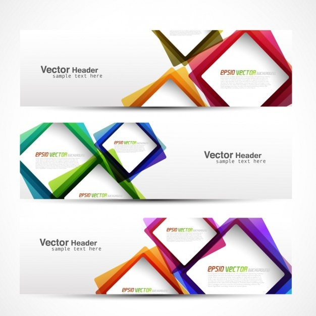 Header with colorful squares Vector | Free Download