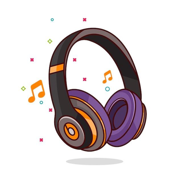 Headphone icon illustration Vector | Premium Download