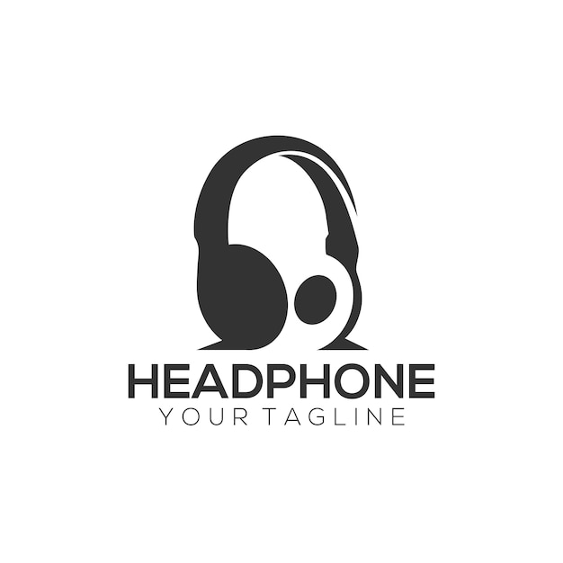 Headphone logo Premium Vector